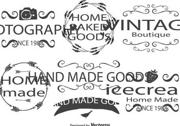 Cute Hand Drawn Style Label Set - Kostenloses vector #156589