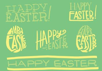 Hand Drawn Easter Vector Typography - Free vector #156599