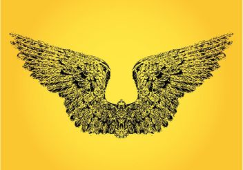 Bird Wings Drawing - бесплатный vector #156669