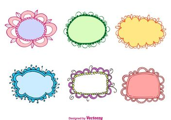 Hand Drawn Vintage Frames - Free vector #156679