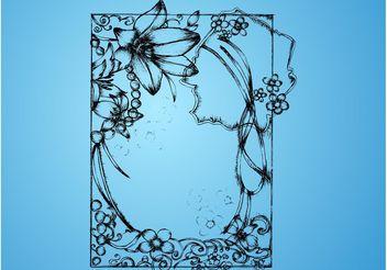 Floral Frame - Free vector #156829