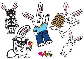 Bunny - Free vector #156949