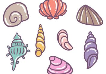 Free Colorful Pearl Shell Vectors - vector gratuit #156959