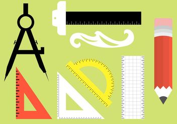 Architecture Tools Vectors - Free vector #156989
