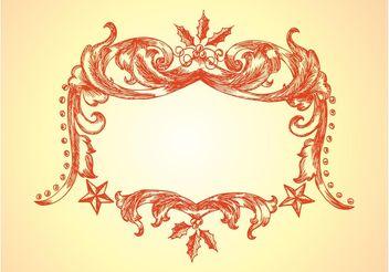 Christmas Frame Vector - Free vector #157139
