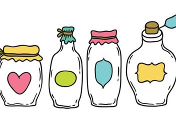 Free Cartoon Mason Jar Vector - Free vector #157169