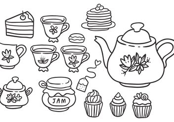 Free High Tea Vectors - Kostenloses vector #157179
