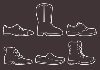 Stitched Mens Shoes Vectors - бесплатный vector #157209