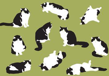 Hand Drawn Fat Cat Vectors - Free vector #157229
