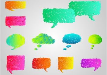 Colorful Speech Bubbles - vector gratuit #157329