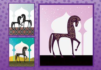 Arabian Horses - vector #157389 gratis