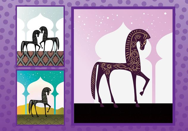Arabian Horses - Free vector #157389