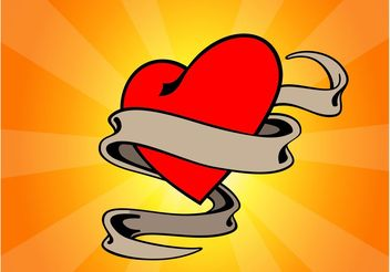 Love Heart Tattoo - Free vector #157429