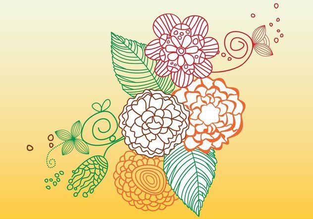 Lines Flowers - vector gratuit #157439