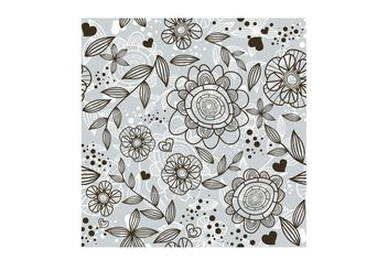 Flower Doodle Pattern - Free vector #157479