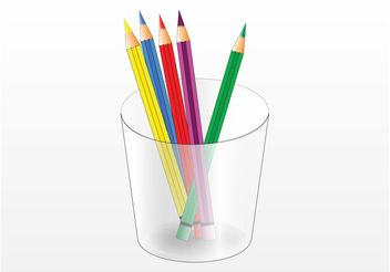 Color Pencils - vector gratuit #157499