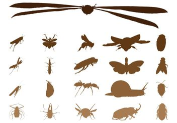 Insect Silhouettes Graphics - vector gratuit(e) #157619