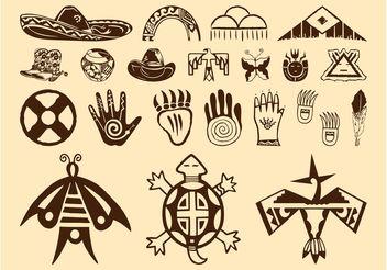 Native American Symbols - Kostenloses vector #157679