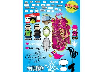 Cool Graffiti Poster - vector #157699 gratis