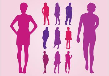 Silhouette People - vector gratuit #157929