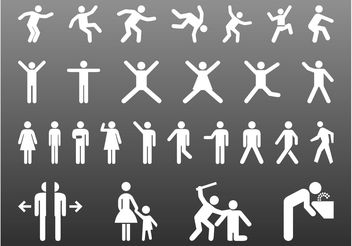 People Pictograms Graphics - vector #158139 gratis