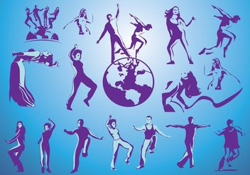 Free Dancing Vectors - Free vector #158229