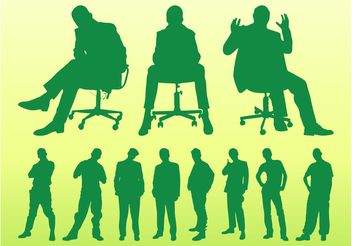 Sitting And Standing Men - vector gratuit #158279