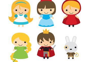 Fairytale Character Vectors - vector #158289 gratis