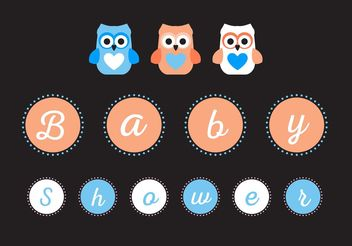 Baby Shower Sign Vector - vector #158429 gratis