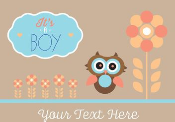 Baby Shower Vector - vector #158449 gratis