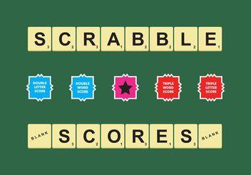 Scrabble Scores Vector Free - бесплатный vector #158479