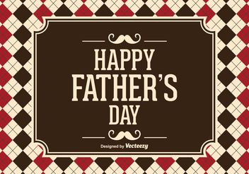 Father's Day Vector Illustration - Free vector #158499