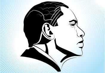 Obama Profile - vector gratuit #158569