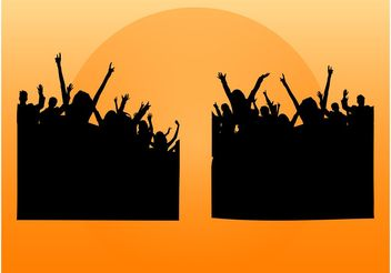 Party Crowds - vector gratuit #158629