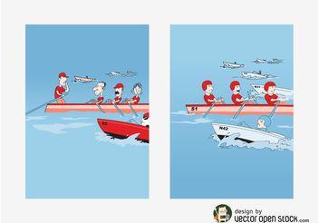 Rowing Vectors - vector #158639 gratis