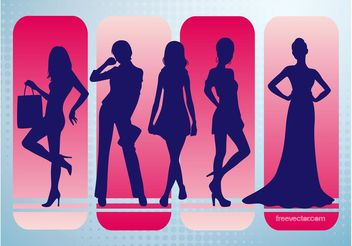 Fashion Vector Silhouettes - Free vector #158649
