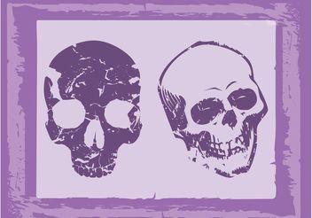 Old Grunge Skulls - Free vector #158659