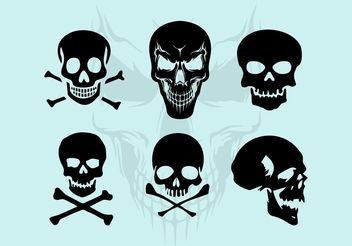 Vector Skull Silhouette Illustrations - Free vector #158679