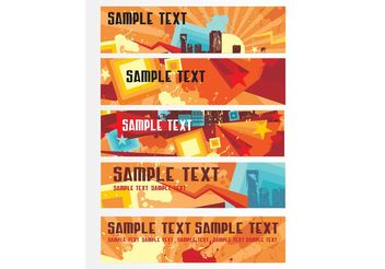 Banner Templates - Free vector #158739