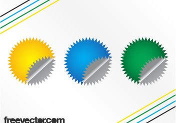 Colorful Badge Templates - Free vector #158759