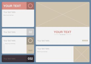 Modern Text Box Template Vector Set - Free vector #158819