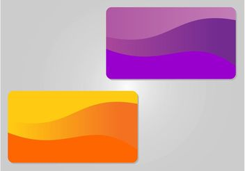 Colorful Cards Templates - Kostenloses vector #158829