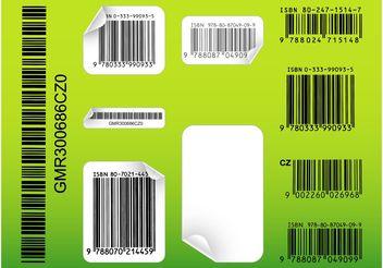 Barcode Templates - vector gratuit #158919
