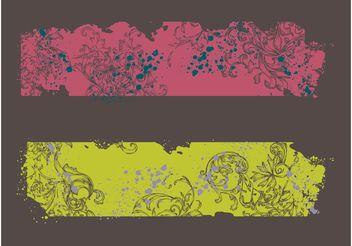 Splatter Banners - Free vector #158949