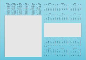 Calendar Designs - Free vector #159019