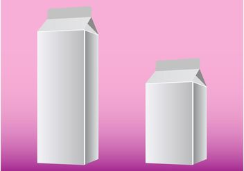 Milk Boxes - vector gratuit #159029