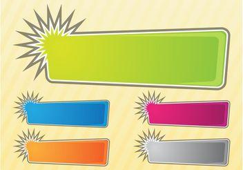Banners Set - vector gratuit #159099