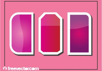 Pink Stickers - vector gratuit #159109