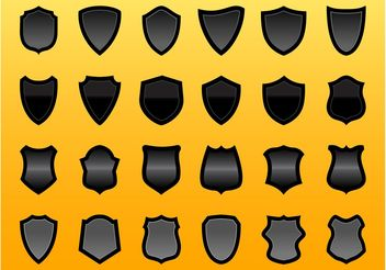 Shield Vector Graphics Set - Kostenloses vector #159159