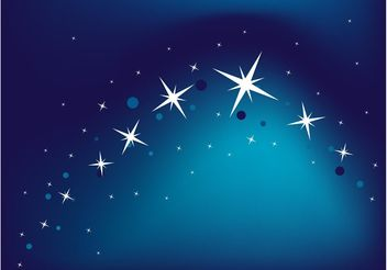 Blue Star Background - Free vector #159239